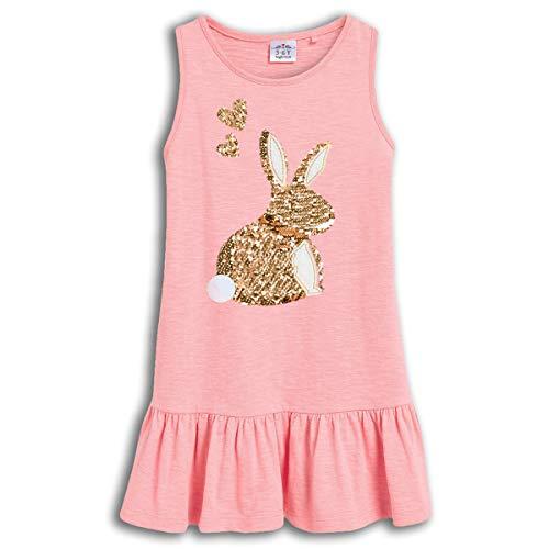 VIKITA Girls Summer Sequin Bunny Rabbit Pink Dresses Sleeveless Casual Cotton Dress SH0330M 8T ()