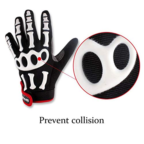AINIYF Full Finger Motorcycle Gloves | Men's And Women's Mountain Bikes Sports Gloves Ankle Spring And Autumn (Color : White, Size : M) by AINIYF (Image #4)