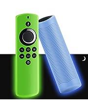 WEVOVE [2020 Release] Firetv Stick Lite Silicone Glow Cover, Streaming Media Device Case for FireStick Lite, Lightweight, Anti-Slip, Shockproof[2Pcs]