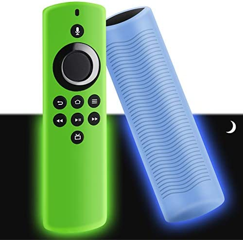 WEVOVE [2020 Release] Firetv Stick Lite Silicone Glow Cover, Streaming Media Device Case for HearthStick Lite, Lightweight, Anti-Slip, Shockproof[2Pcs]
