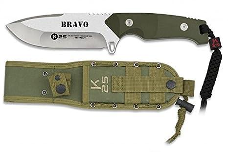 K25 Cuchillo Modelo Bravo con Paracord.: Amazon.es: Deportes ...