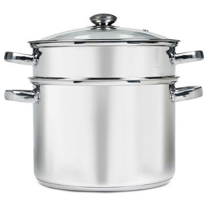 8 qt Stainless Steel Multi Cooker with Glass Lid by Sedona Kitchen