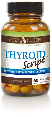 Thyroid Script Supplement - Supports Healthy Thyroid, T3 Activation, Immunity - Adrenal and Energy Function - DPPIV Enzyme for Gluten and Dairy Metabolism by Suzy Cohen