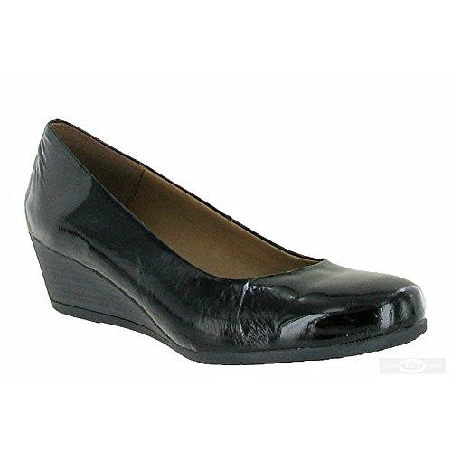 Riva Nadone Zapato Mujer Wedged Negro Deporte Ponerse Zapatillas q6wfSxqp