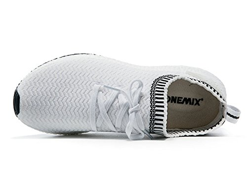 Onemix Donna Maglia Sneaker, Scarpe Da Corsa Basse Bianco