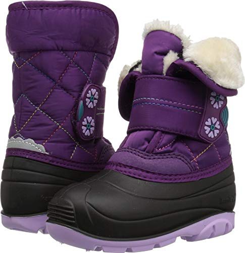 Kamik Girls' FROSTLINE Snow Boot, Grape, 8 Medium US Toddler -