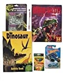 Dinosaur Activities-Hot Wheels Dino Rider; Glow in the Dark Dinosaur Bones; Dinosaur Jigsaw Sticker Books; crayons; pencil. Take a break from technology this summer! Science and fun in one bundle!