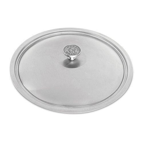 Nordic Ware Restaurant12 inch Brushed Stainless-Steel Lid