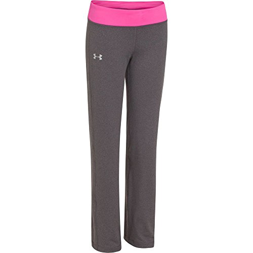 Under Armour Kids Girls Rally Pant, Carbon Heather/Chaos/Silver XL (18-20 Big Kids) X One Size by Under Armour (Image #2)