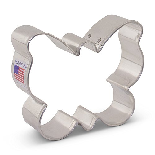 (Small Butterfly/Moth Cookie Cutter - 3.13 Inch - Ann Clark - US Tin Plated)
