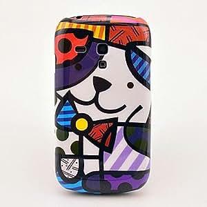 HOR Pintura al óleo Funda Perro trasero duro para el Samsung Galaxy S3 I8190 Mini