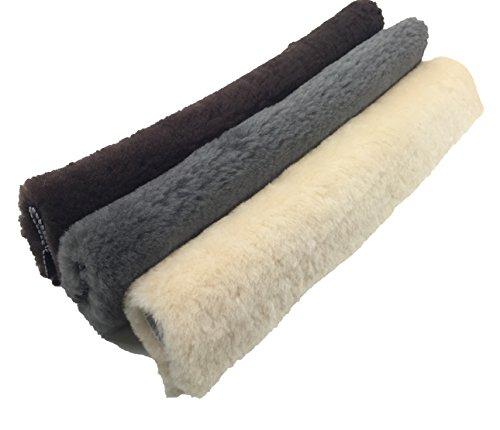 Dr Sheepskin Natural Sheepskin Seat Belt Strap Cover