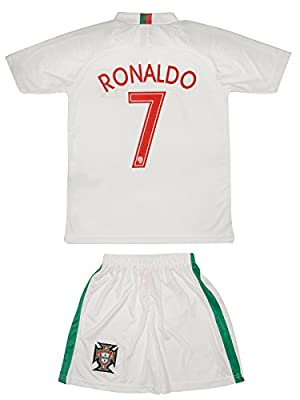 Soccer Youth Jersey Set ? Portugal ? Away Edition ? World Cup 2018 ? # 7 Ronaldo
