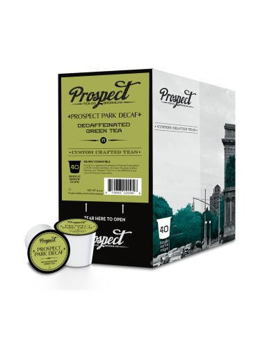 Prospect Tea Prospect Park Decaf Single Cup Tea for Keurig Brewers, 40 Count