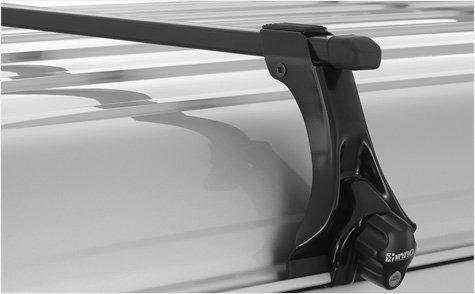INNO トヨタ ハイエース ワイド幅/スーパーロング ハイルーフ H17.1~ H2##系 スクエアベースセット B071GQQ6J3