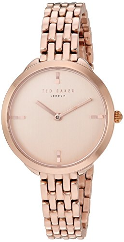 Ted Baker Women's 'ELANA' Quartz Stainless Steel Casual Watch, Color Rose Gold-Toned (Model: TE15198008)