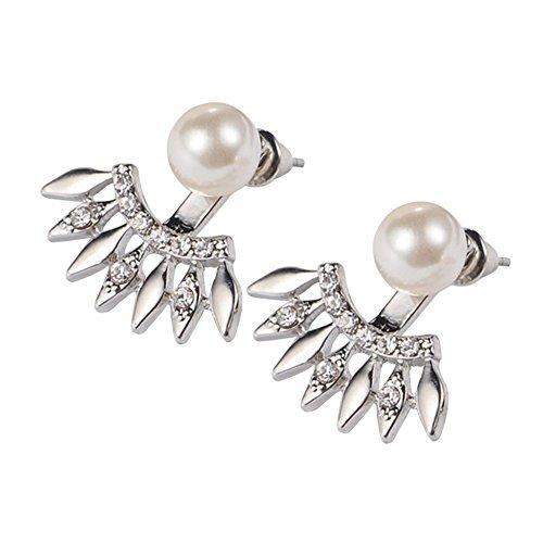 Hosaire Boucles doreilles de Femme Nouveaut/é Style Forme de Perle de zircon diamant Mode en Oreilles Perc/ées Mariage Bijoux Cadeaux de lamour