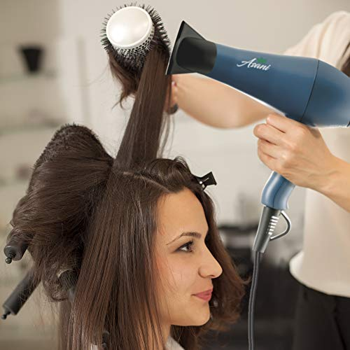 Negative Ion Hair Blow Dryer with Concentrator Attachment| Professional Anti-frizz 1875W | Extra-Fast Infrared Blow dryer Straightener with Quiet Salon-Grade Motor | 3 Heat Settings and 2 Speeds