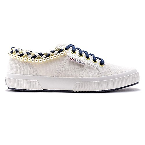 White Superga Sneaker Donna 2750Cotpearlsw 901 Schvili Bianco BBAgq