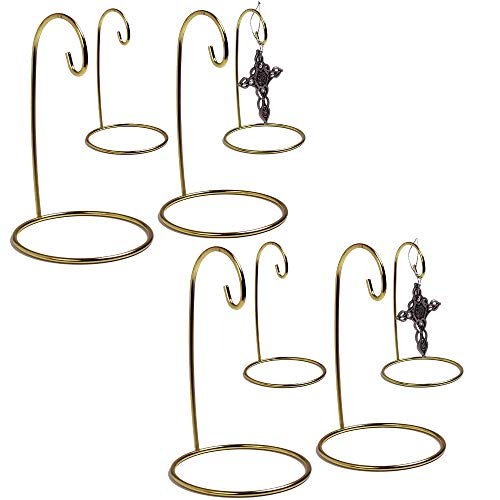 - BANBERRY DESIGNS Gold Ornament Stand - Brass Metal Wire Ornament Stands - Terrarium Display Holder - 5