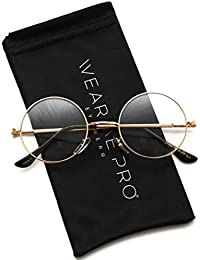 Round Clear Metal Frame Glasses