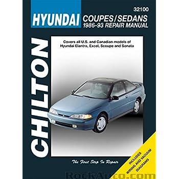 Chilton Hyundai Coupes and Sedans 1986-1993 Repair Manual (32100)