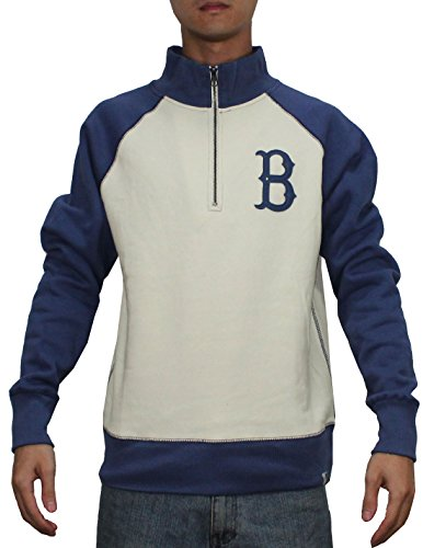 1/4 Zip Thermal Hooded Pullover - SPORTS SHACK USA BRO ROBINS Mens 1/4 Zip Pullover Thermal Sweatshirt L Blue & Beige
