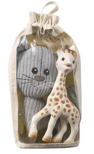 Amazon.com : Bolsa Algodón conjunto de juguete, Sophie la jirafa y el gato Lazare : Baby