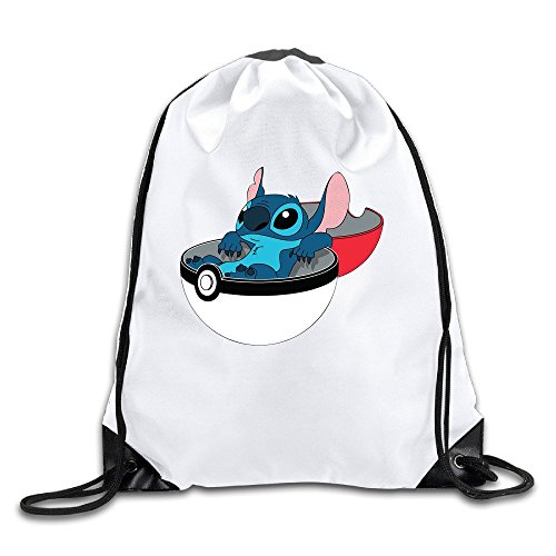 AGOGO Lilo Stitch Line Drawstring Backpack Bag