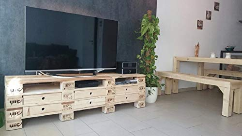 Palettenmobel Sideboard Savona Lowboard Tv Hi Fi Bank Xxl Natur