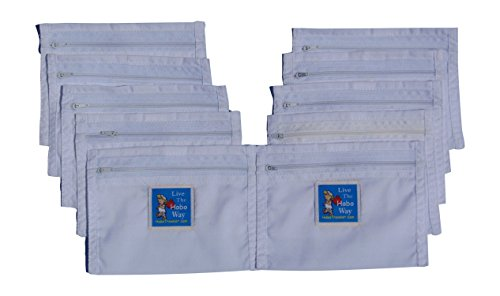 HoboTraveler.com 10 Secret Money Pockets Zipper Passport Size Ready to Sew Into Clothing ()