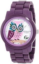 Sprout Women's ST/5034MPPR  Purple Corn Resin Bracelet Owl Dial  Watch