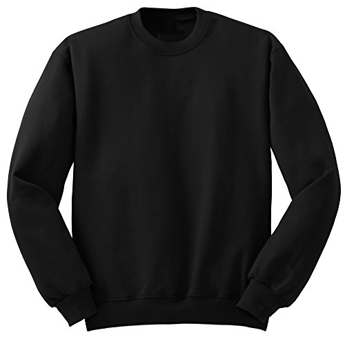 Premium Boy's Youth Comfort Soft Crewneck Sweatshirts 5/6 Black - Design Kids Crewneck Sweatshirt