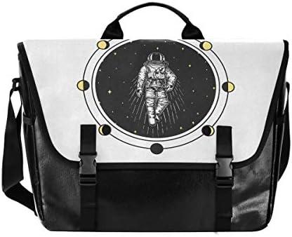 メッセンジャーバッグ メンズ 宇宙 スター 星空柄 斜めがけ 肩掛け カバン 大きめ キャンバス アウトドア 大容量 軽い おしゃれ