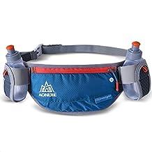 LANPA Running water bottle pockets marathon pockets men riding hiking cross-country outdoor bag women running packages waist pack