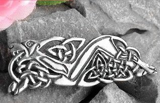 Sterling Silver Celtic Knot Wolf Animorphic Beast Pin Brooch