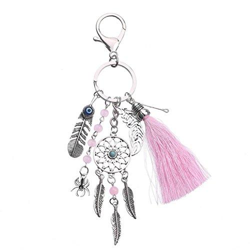starlit Boho Dream Catcher Tassel Evil Eye Key Chain Handbag Pendant Keyring