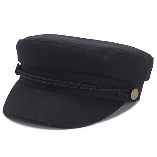 - Classic Spring Summer Womens Newsboy Cap Cotton Cabbie Ivy Beret Hats for Women (Black)