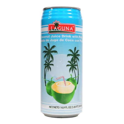 Laguna Coconut Juice Drink with Pulp, 16.9--Ounce (Pack of 24)