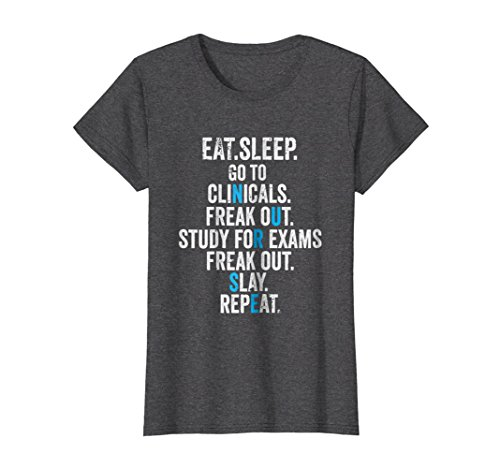 Womens Funny Nursing School Graduation RN T-Shirt Large Dark Heather ()