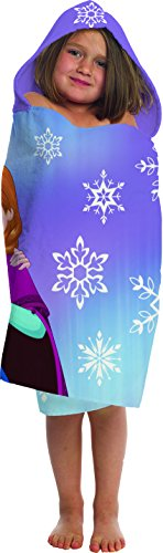Jay Franco Disney Frozen Snowflake Cotton Hooded Towel