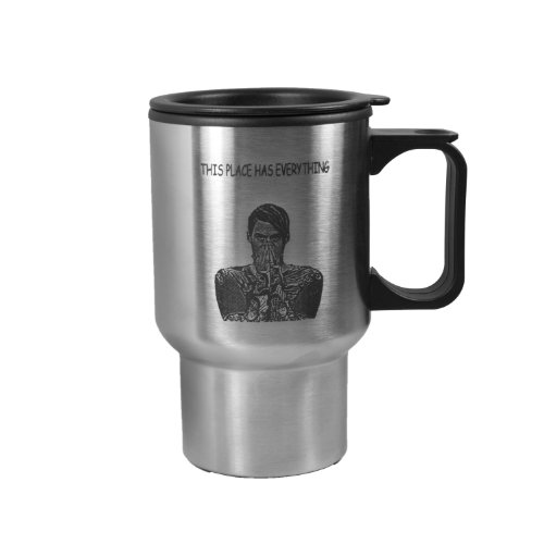 16oz Stefon This Place has Everything Travel Mug Tumbler With Handle For SNL