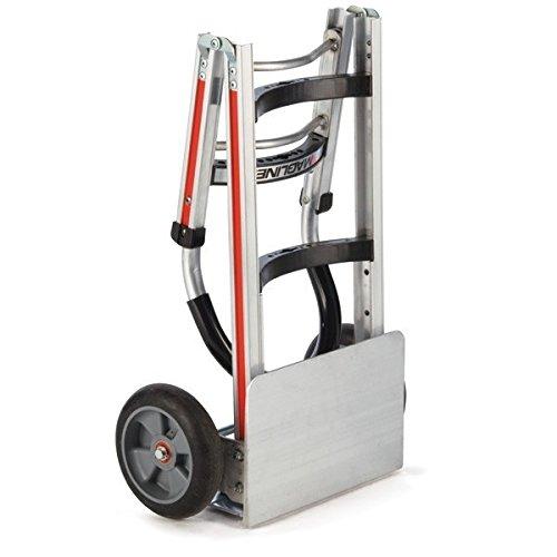 Magline-FTA19E1AL-Aluminum-Straight-Back-Folding-Hand-Truck-No-19-Handle-Cushion-Wheels-500lbs-Capacity-49-Height-16-Length-x-18-12-Width