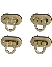 Healifty 8pcs Turn Lock Metal Purses Locks Clutche Twist Clasp Lock for DIY Handbag Shoulder Bag Closure Purse Making Accessories