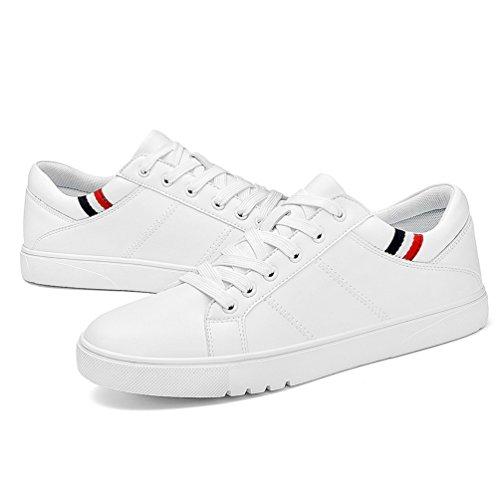 Cordones Los Hombres Con De Casuales Cómodos Verano Blanco Respirables Zapatos Planas Zapatillas gtx4wvqnSE
