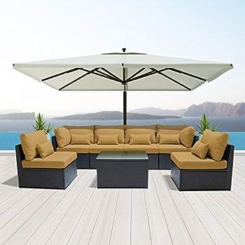 Amazon Com Dineli Outdoor Sectional Sofa Patio Furniture