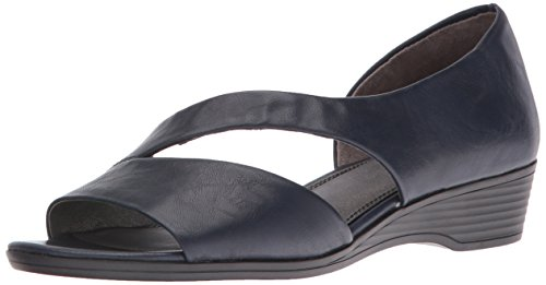 - LifeStride Women's Magda Wedge Sandal, Navy, 5.5 M US