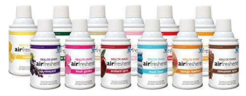 Garden Air Freshener (Health Gards AE-KIT Hospeco Metered Aerosols, Mixed Fragrances of Fresh Linen, Mango, Vanilla, Vineyard, Baby Powder, Sunburst, Fresh Garden, Tropical Tradewinds, Cinnamon Spice, Citrus Grove, Orchard Spice, Fruit Basket (Pack of 12))