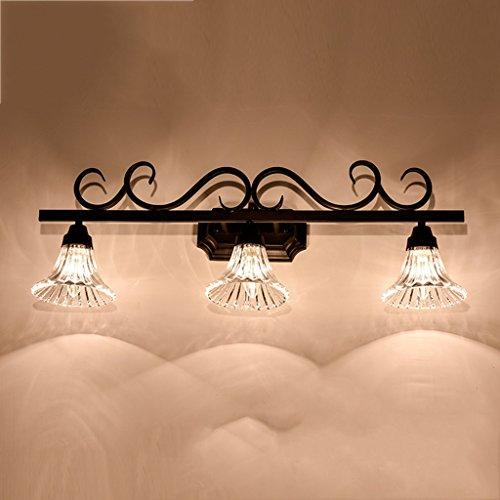 LANNA SHOP- Simple Mirror Front LED Warm White Light Dresser Make-up Lighting Lamp Bathroom Wall Mirror Headlights ( Size : 3 lights ) by Mirror front lamp