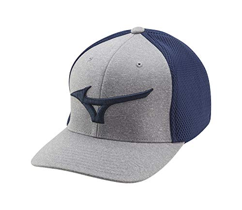 Mizuno Fitted Meshback Golf Hat, Navy, One Size